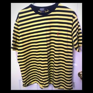 POLO striped Bumble Bee tee XL EUC